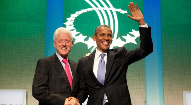 President Clinton with President Obama