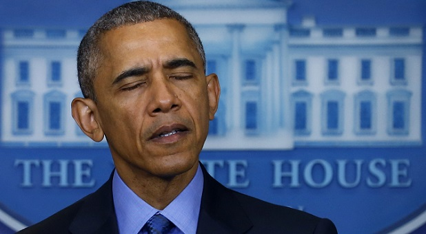 President Obama Press Conference Eyes Closed