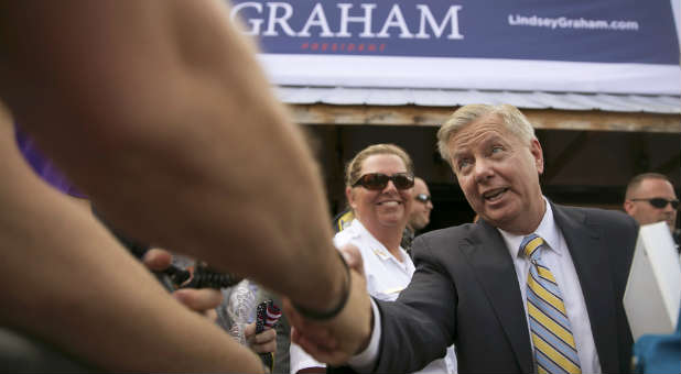Lindsey Graham campaigning