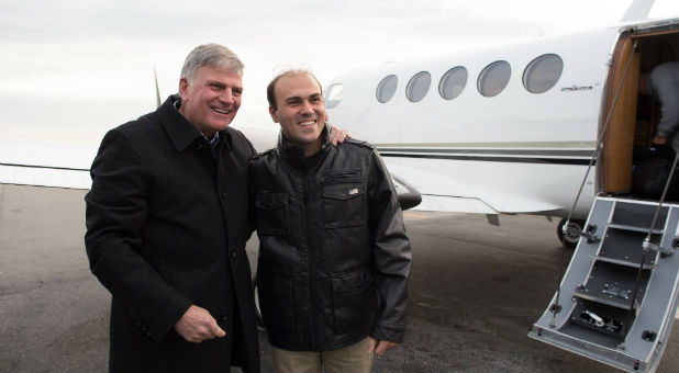 Franklin Graham meets up with Saeed Abedini.