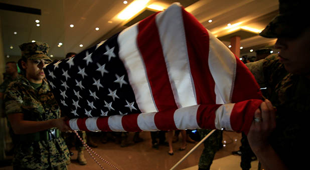 US Flag Unfurled