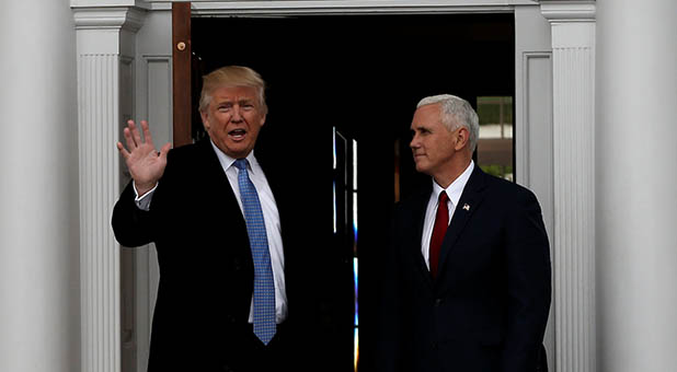 President-Elect Donald Trump and Vice President-Elect Mike Pence