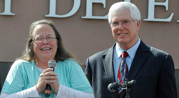 County Clerk Kim Davis and Liberty Counsel's Mat Staver