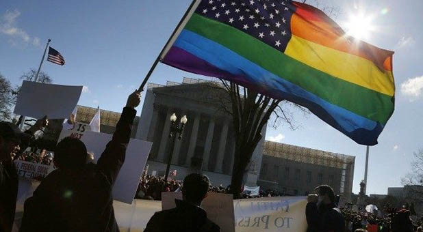 LGBT Flag Outside Supreme Court Building