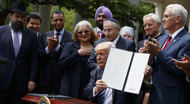 President Donald Trump and Dr. Alveda King