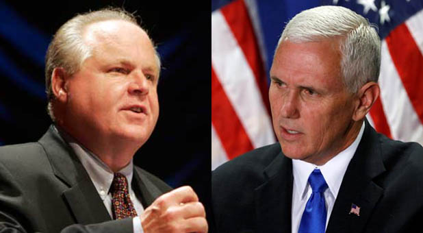 Rush Limbaugh and Vice President Mike Pence