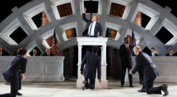 "The New York theater group that is producing a twisted version of ""Julius Caesar"" in which a character who is dressed up just like Donald Trump is viciously assassinated is a perfect example of what I am talking about."