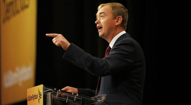 Former U.K. Liberal Democrat Party Chairman Tim Farron