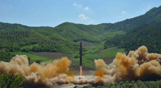North Korean Hwasong-14 ICBM