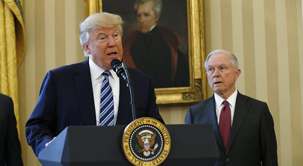 President Donald Trump and Attorney General Jeff Sessions