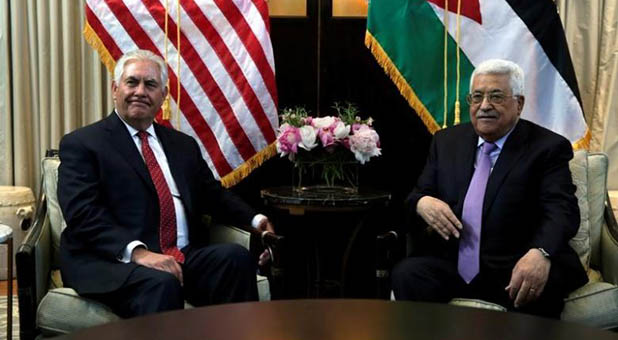 Secretary of State Rex Tillerson and Palestinian Authority President Mahmoud Abbas