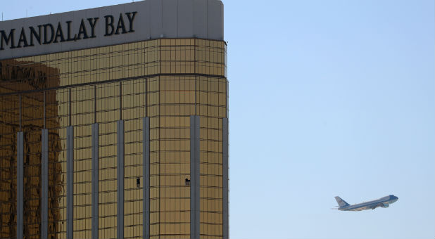 The shooter attacked out of Mandalay Bay.