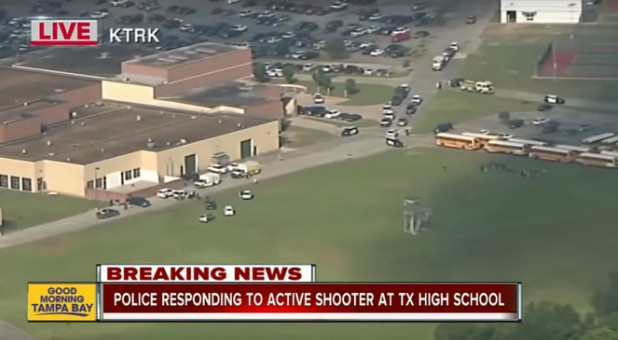 The aftermath of the Santa Fe school shooting.