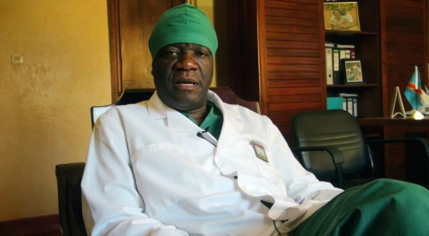 Congolese gynecologist and Nobel Peace Prize winner Dr. Denis Mukwege, in his office at Panzi Hospital on Feb. 6, 2013, in eastern Congo.