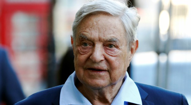 George Soros arrives to speak at the Open Russia Club in London, Britain, June 20, 2016.