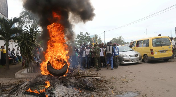 A protest in the Congo