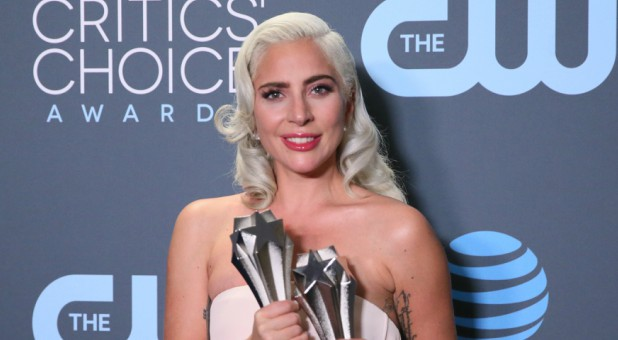 Lady Gaga at the Critics Choice Awards.
