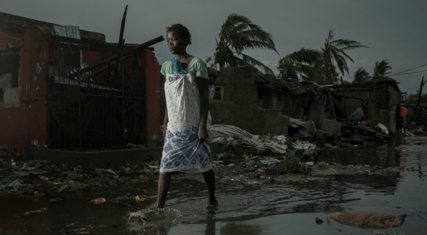 The aftermath of Cyclone Idai is pictured in Beira, Mozambique.