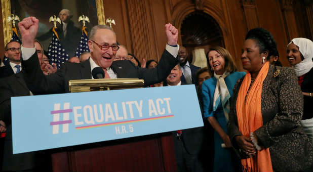 Chuck Schumer discusses the Equality Act.
